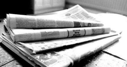 عناوين الصحف الصادرة يوم السبت في 22 شباط 2020 image