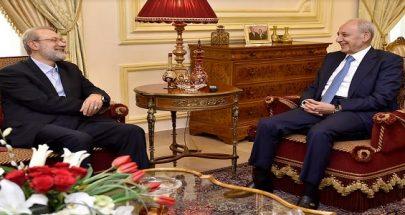 الرئيس بري التقى لاريجاني: في الوحدة قوة image