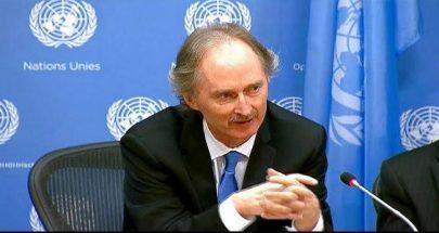 بيدرسن: من الضروري أن تساهم روسيا وتركيا في خفض التصعيد بإدلب image
