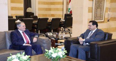دياب التقى سفير سوريا... والأخير: لرفع العقوبات والحصار عن سوريا ولبنان image