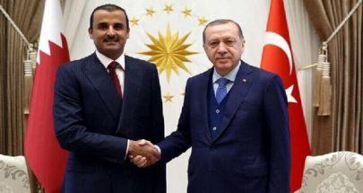 الرئيس التركي وأمير قطر يبحثان الملفين الليبي والسوري image