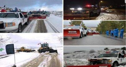 الثلوج غطت قرى وبلدات راشيا والبقاع الغربي image