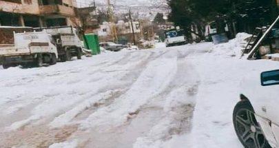 الجليد في الضنية اقفل المدارس ودرجات الحرارة ما دون الصفر image