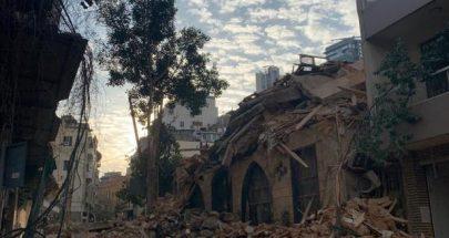انهيار مبنى في الاشرفية image