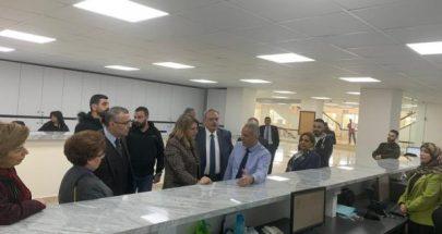 جولة وزيرة العدل ماري كلود نجم في الوزارة image