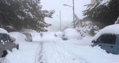 فرق جمعية إمداد قدمت مساعدات لعائلات عزلتها الثلوج في الهرمل image