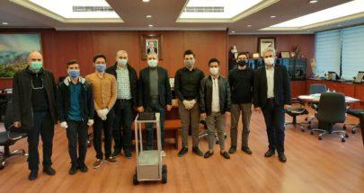 """طلاب من """"العلوم"""" أنهوا تصميما روبوتيا لخدمة المصابين بكورونا image"""