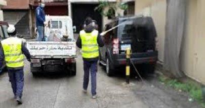 بلدية حارة حريك تقوم بالتعقيم ضد فيروس كورونا image