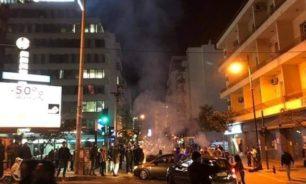 رمي حجارة على مبنى سرايا طرابلس وعناصر القوى الأمنية image