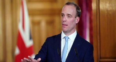 وزير الخارجية البريطاني: الوباء لم يصل ذروته ومن السابق لأوانه رفع الإجراءات image