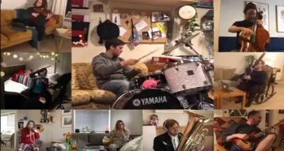 موسيقيون في الحجر الصحي يعزفون أغنية سيلين ديون الشهيرة image