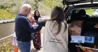 جولة لفريق الشؤون الاجتماعية على النازحين السوريين في جران البترونية image