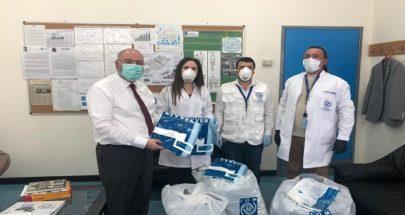 المنظمة الدولية للهجرة قدمت هبة مستلزمات طبية لوزارة الصحة image