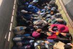 بالصورة: نقل 25 عاملا على متن