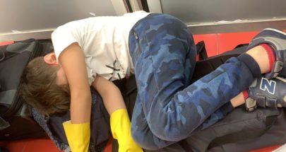 لبنانيون عالقون في مطار لاغوس..الاطفال ناموا على الأرض والوضع صعب image