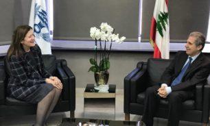 وزني بحث مع السفيرة الاميركية في الاوضاع المالية image