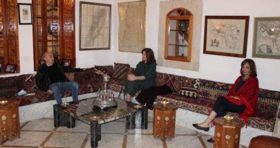 جنبلاط التقى السفيرة الأميركية في المختارة image