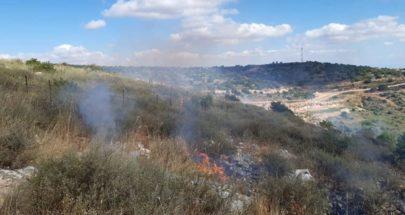 حريق في كروم الشراقي بميس الجبل وانفجار الغام بفعل الحرارة image