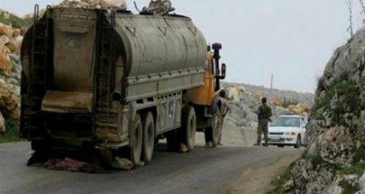 بالصور التهريب إلى سوريا... ضبط شاحنتين محملتين بالمازوت والغاز image