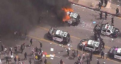 """بالصور: مدن أميركية """"تشتعل""""... ومواجهات دموية مع الشرطة image"""