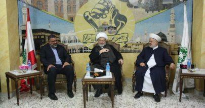 خليلي زار تجمع العلماء: علاقة ايران مع لبنان إستراتيجية image