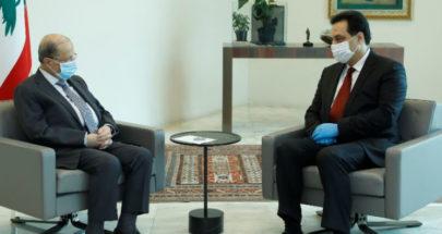 الرئيس عون: أمارس صلاحياتي كاملة... دياب: نحن مع حق التظاهر image