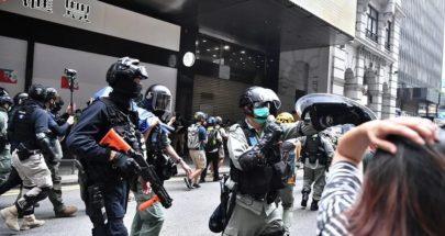 شرطة هونغ كونغ تطلق غاز الفلفل على المتظاهرين المؤيدين للديموقراطية image