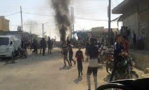 مظاهرات للعشائر في الشدادي شرقي سوريا ضد مسلحين تابعين للجيش الأمريكي image