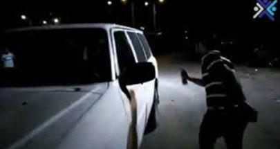 بالفيديو: متظاهرون يرشون آلية تابعة لقوى الأمن الداخلي في عكار image
