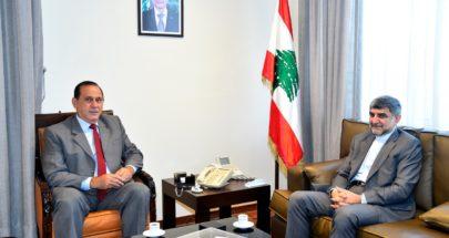 حب الله يبحث مع السفير فيروزنيا في تطوير التعاون بين لبنان وايران image