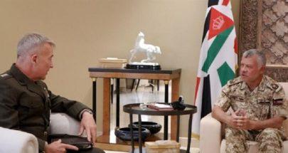 العاهل الأردني يبحث مع قائد القيادة المركزية الأميركية التطورات الإقليمية والقضية الفلسطينية image