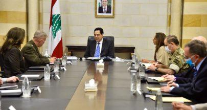 دياب عرض مع ماكنزي العلاقات الثنائية مع اميركا ودعم الجيش image