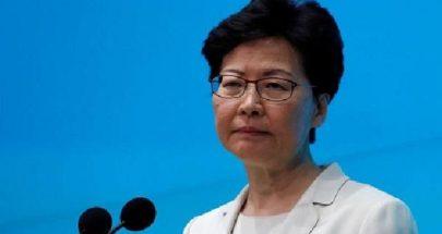 """رئيسة السلطة التنفيذية في هونغ كونغ تتعهّد تطبيق قانون الأمن القومي """"بصرامة"""" image"""