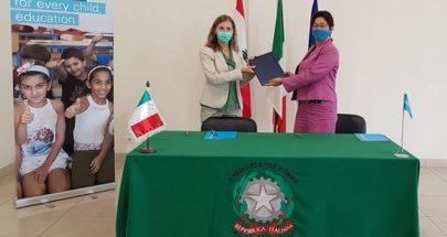 الحكومة الإيطالية: لتأهيل 7 مدارس رسمية لتعزيز تعليم الأطفال image