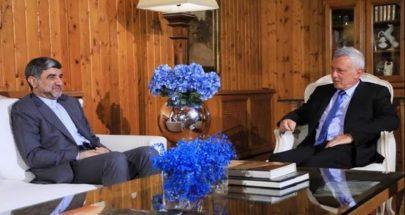 فرنجيه يستقبل السفير الايراني وتأكيد على دعم لبنان image