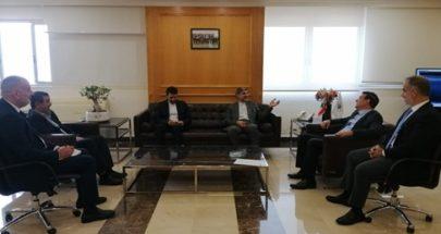 نجار استقبل السفير الايراني وتأكيد على دعم لبنان image