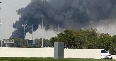 بالفيديو... حريق كبير في مصنع للأخشاب في دبي image