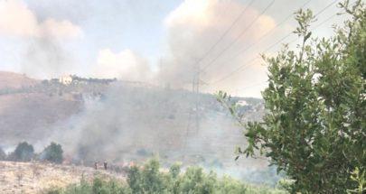 حريق في بيت ملات عكار قرب محطة التيار الكهربائي image