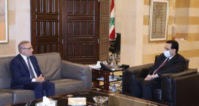 دياب التقى السفير التونسي مودعا ووفدا من المجلس الاقتصادي image