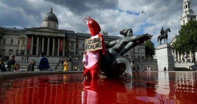 """""""نافورة الدم"""".. مشهد صادم في لندن image"""