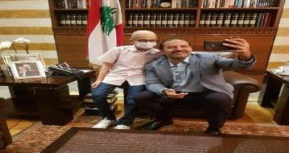 الحريري استقبل الطفل الشجاع هاني شاهين image