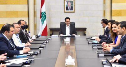 دياب اطلع من الوفد العراقي على أجواء الاجتماعات التي عقدها image
