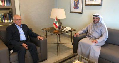 سليمان بحث والسفير الإماراتي في الأوضاع اقليميا ودوليا image