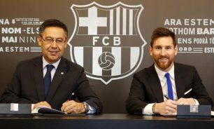 أول رد لرئيس برشلونة على إمكانية رحيل ميسي image