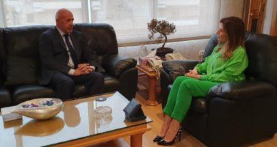 وزيرة العمل استقبلت سفير الارجنتين وقنصل مدغشقر image