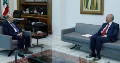 الرئيس عون استقبل الوزيرين السابقين محمد الصفدي وصالح الغريب image