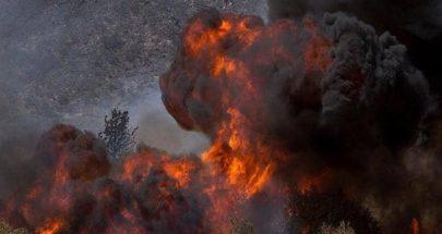 حريق هائل يخلي مئات المنازل في كاليفورنيا image