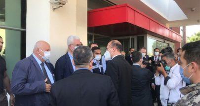 وزير الصحة يتفقد والوفد التركي المستشفى التركي للحروق في صيدا image