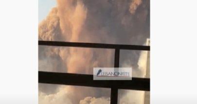 لحظة إنفجار العنبر رقم 12 في مرفأ بيروت image