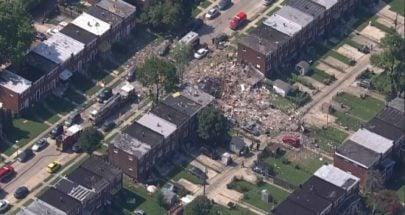 انفجار كبير يهز مدينة أمريكية ويدمر عددا من المنازل image